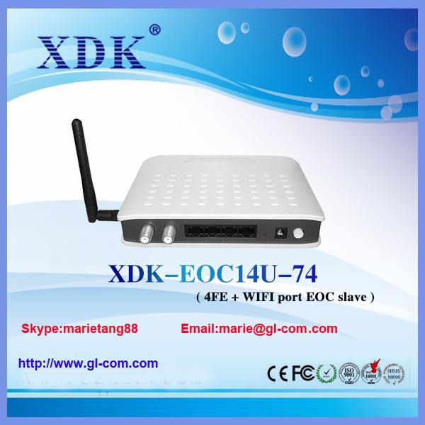 CATV WIFI EOC Slave Master Support VOIP/ WIFI Ethernet