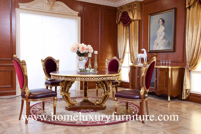 Luxury Classic Dining table chair dining room furniture sets New Designe Italy style FT138