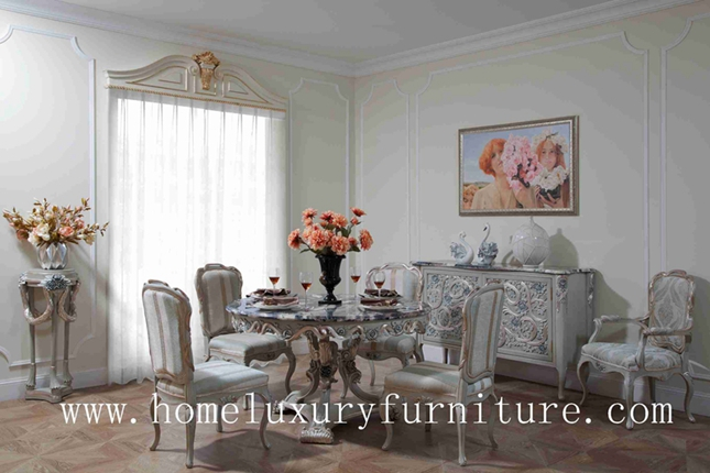 Dining table wood dining table round dining table 4 chairs marble dining table sets FT-103