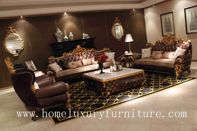 Genunie Leather sofa luxury living room furnitue sofa sets coffee table hot sale 2014