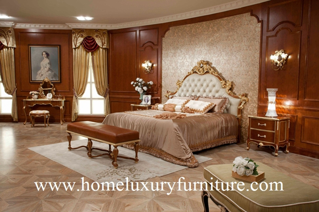 Bed neo classical bedroom sets antique Bedroom furniture Kingbed Solid wood Bed FB-138