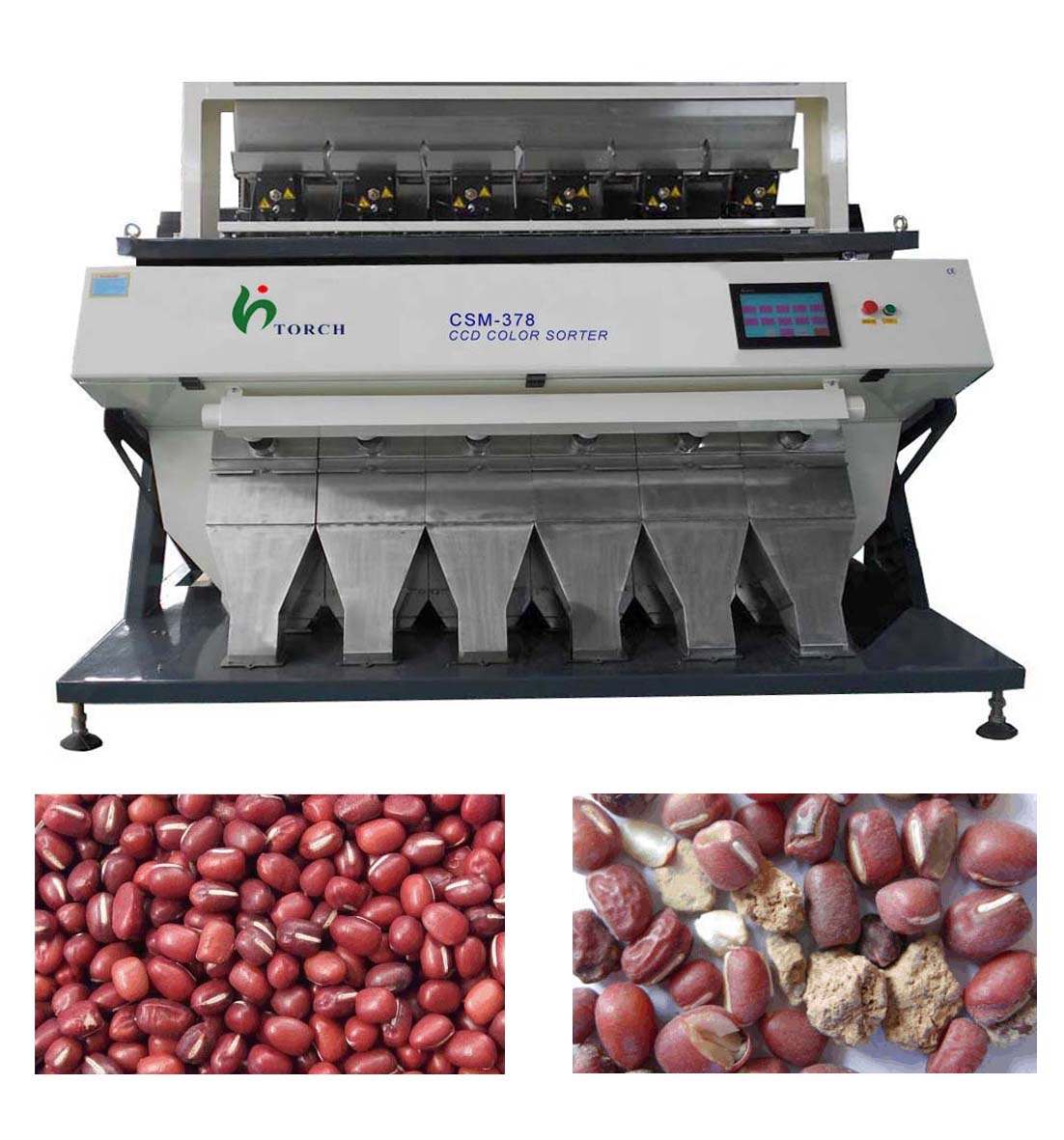 Red Bean CCD Color Sorter Machine