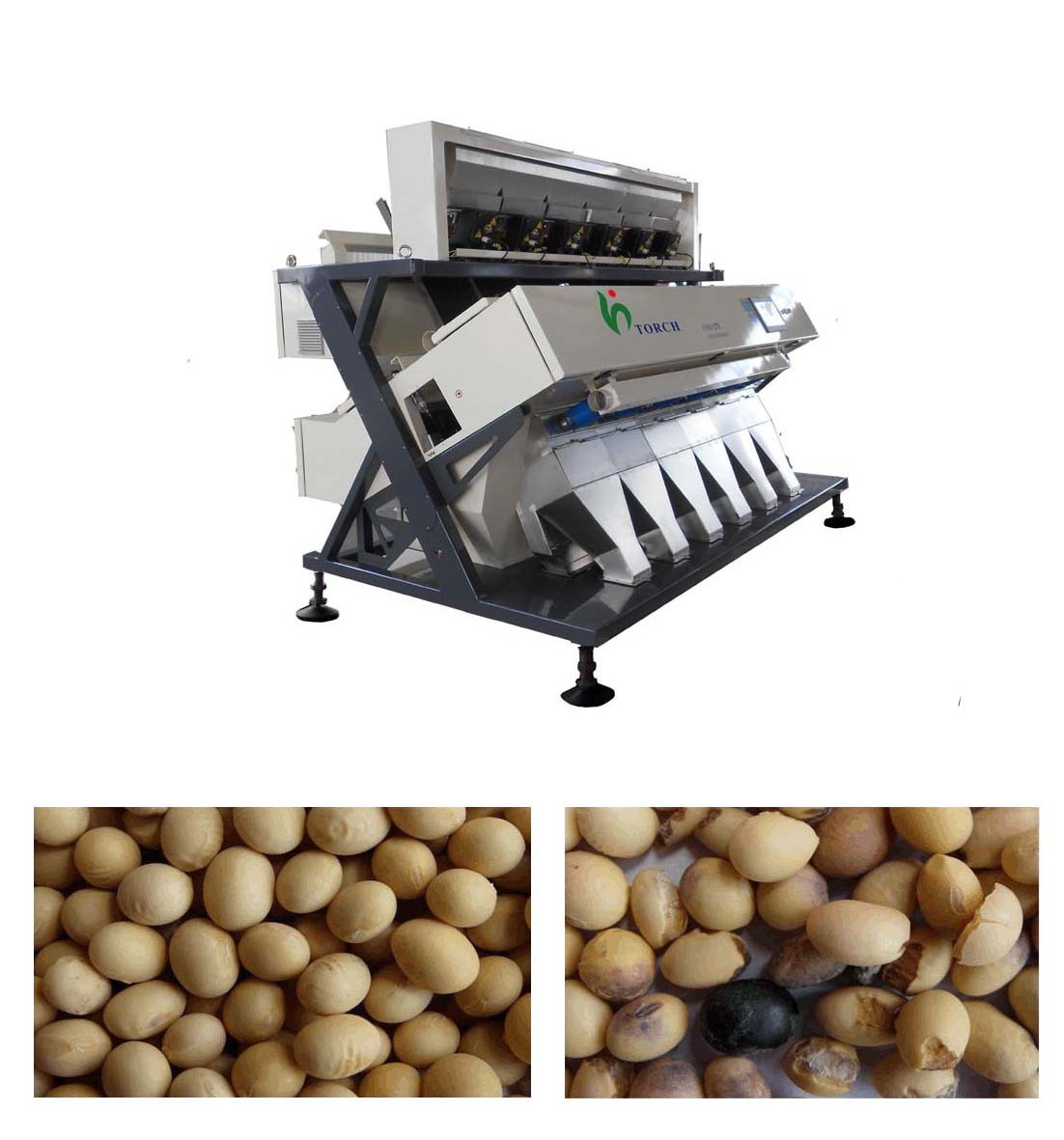 Soy Bean CCD Color Sorer Machine