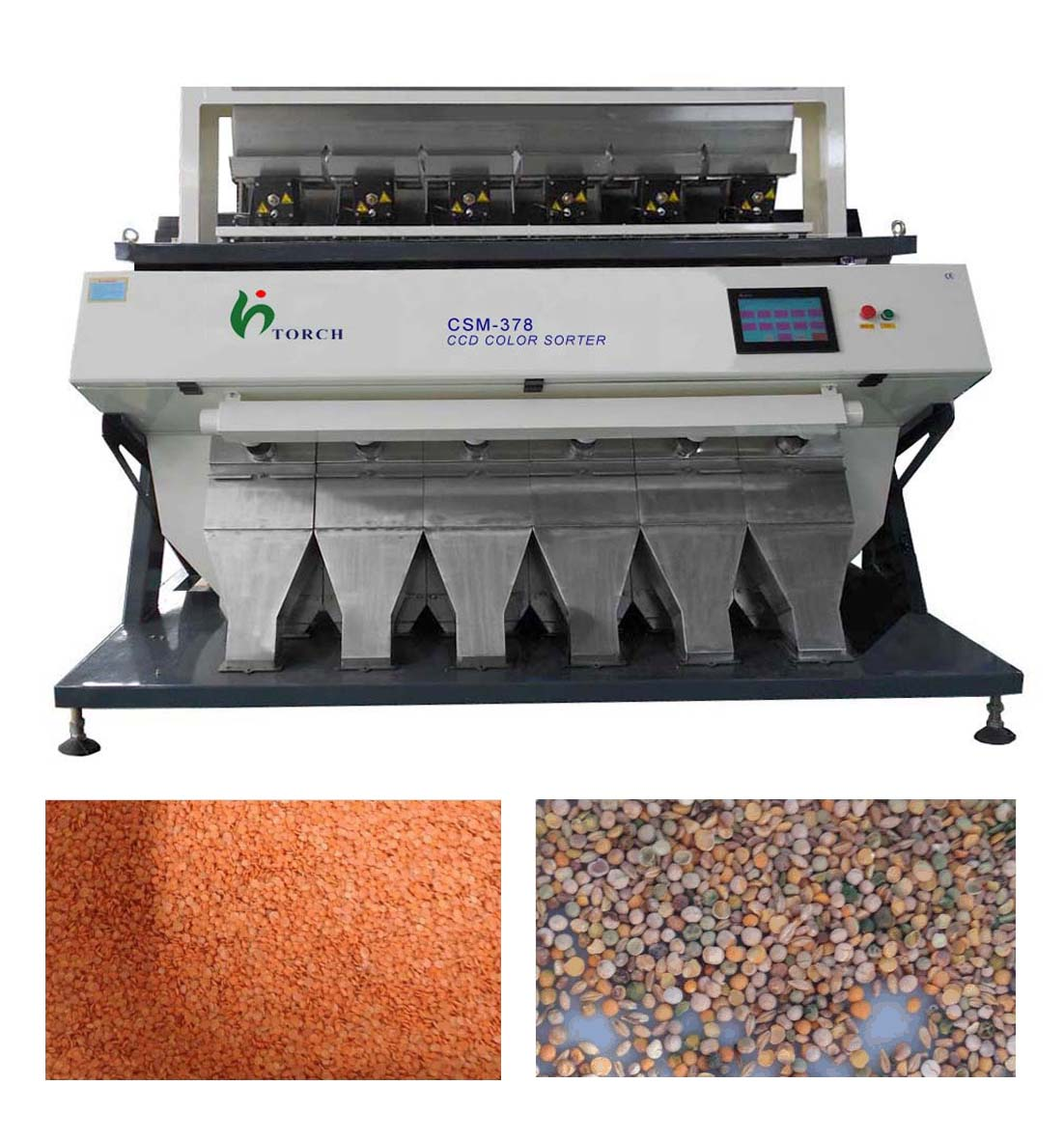 Lentil CCD Color Sorter Machine