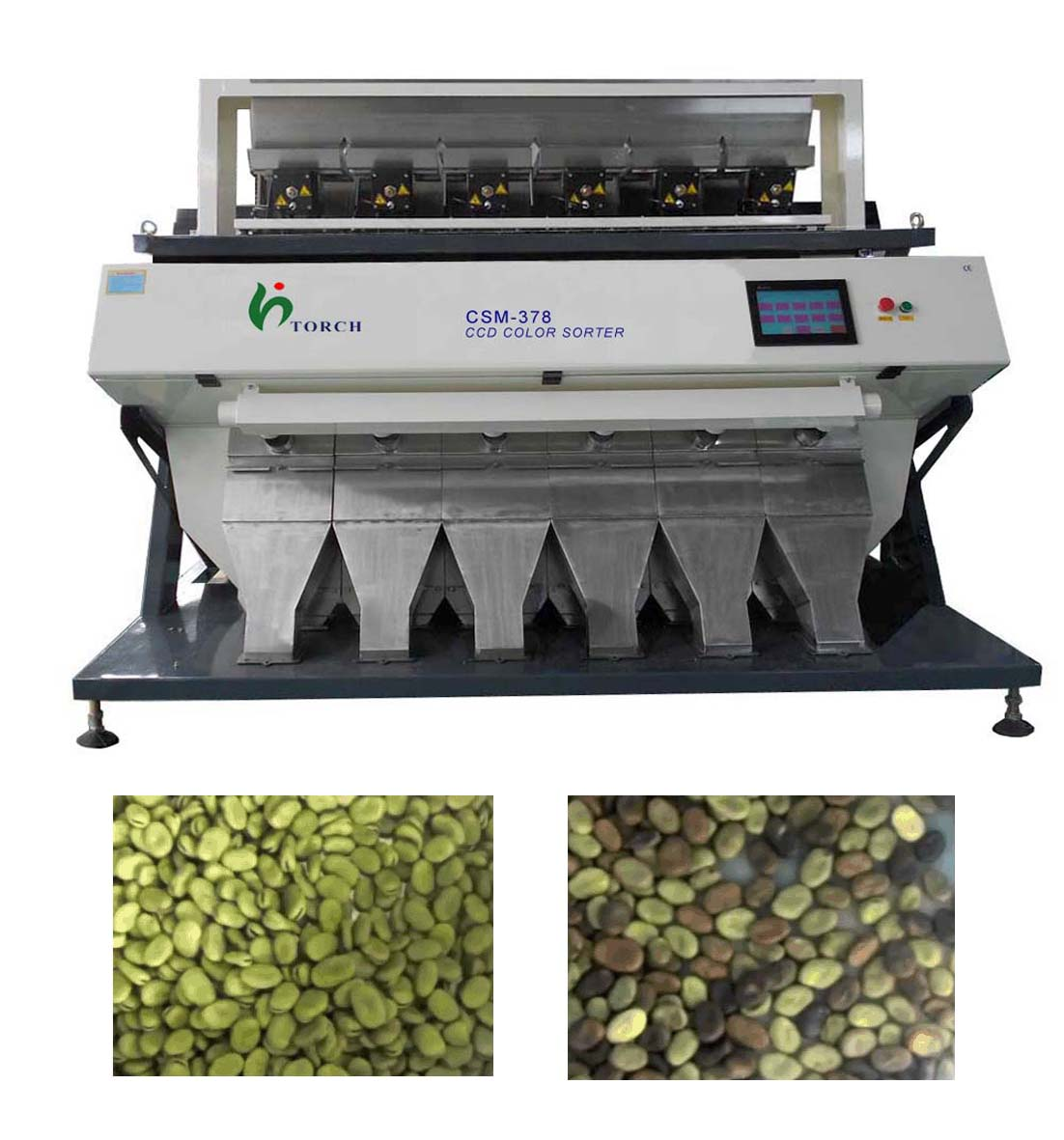 Broad Bean CCD Color Sorter Machine