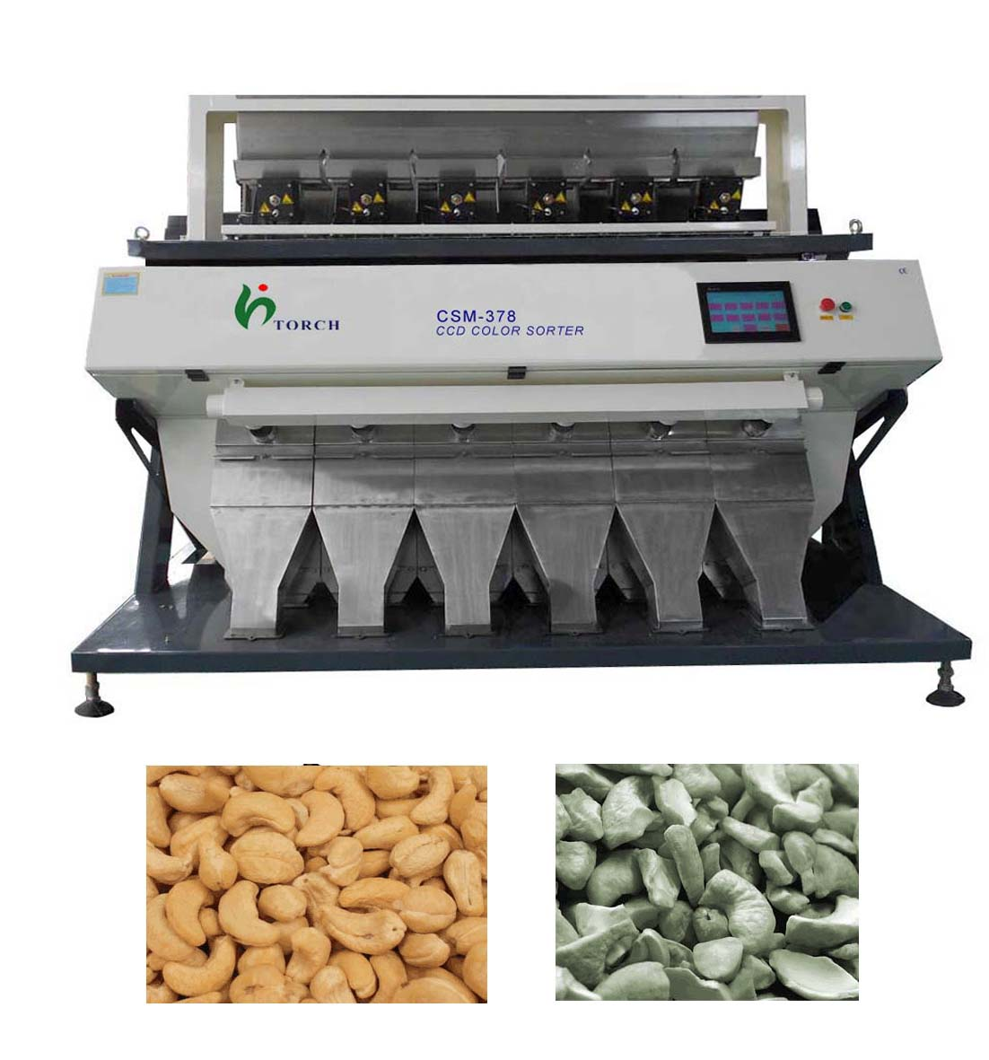 Cashew Nut CCD Color Sorter Machine