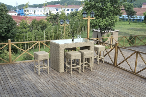 Round Rattan Bar Set Esr-14080