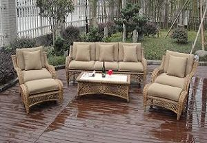 Round Rattan Sofa Set Esr-9250