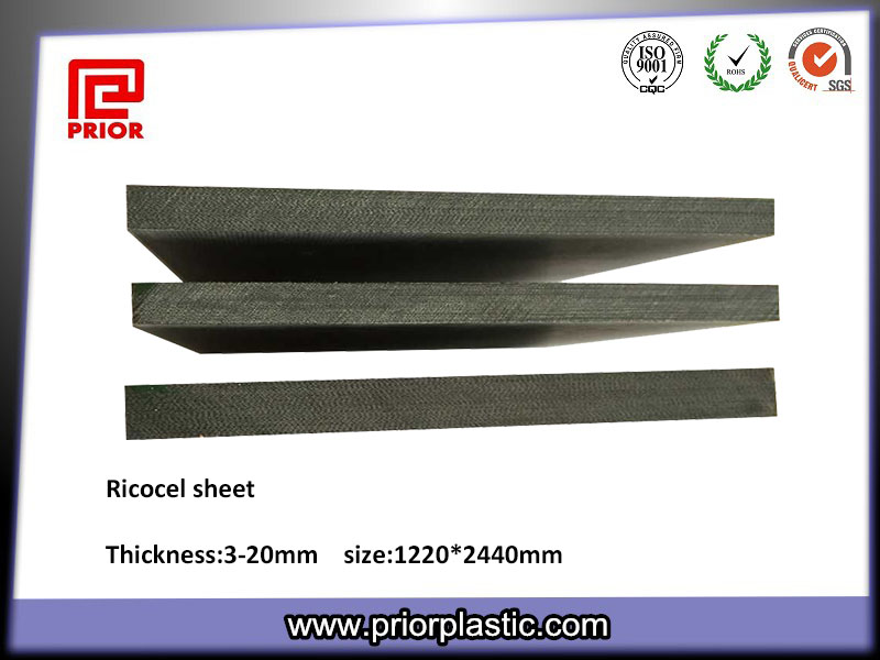 Ricocel sheet for wave soler pallet and reflow pallet material