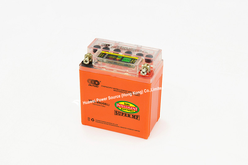 Intelligent Detected Motorcycle Battery with 12V Voltage and 3ah Capacity, Sized 98 X 56 X 109mm, Maintenance-Free