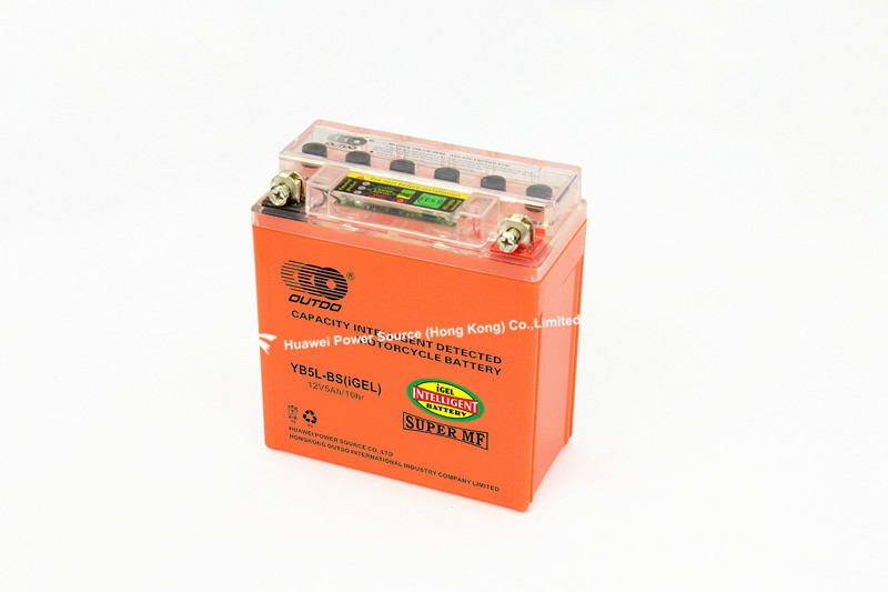 New Intelligent Detected Motorcycle Gel Batteries with 12V Voltage and 5ah Capacity, 119 X 60 X 129mm