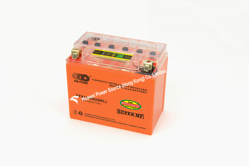 New Motorcycle Batteries with Intelligent Capacity Detect 12V Voltage and 10ah Capacity, Mf, Measures 150 X 87 X 130mm