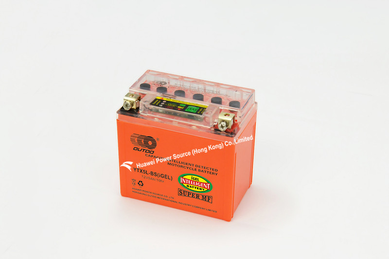 New Motorcycle Batteries with Intelligent Capacity Detected, 12V Voltage and 5ah Capacity, Mf, Measures 113 X 68 X 105mm