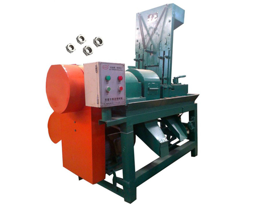 The mechanical hex nut tapping machine