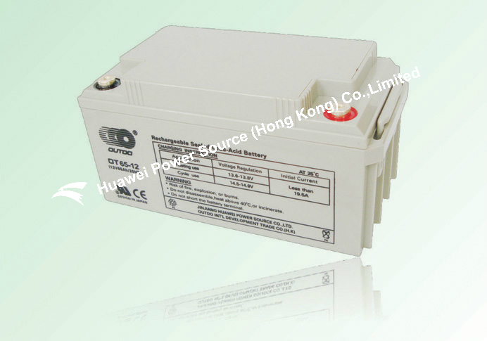 OUTDO Battery / VRLA Battery / sealed lead acid Battery / valve regulated lead acid battery 12V 65Ah