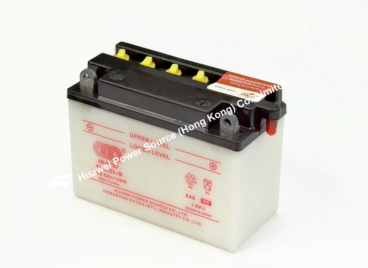 YB6.5L-B OUTDO Battery / OUTDO Bateria / High Performance Flooded Motorcycle Battery
