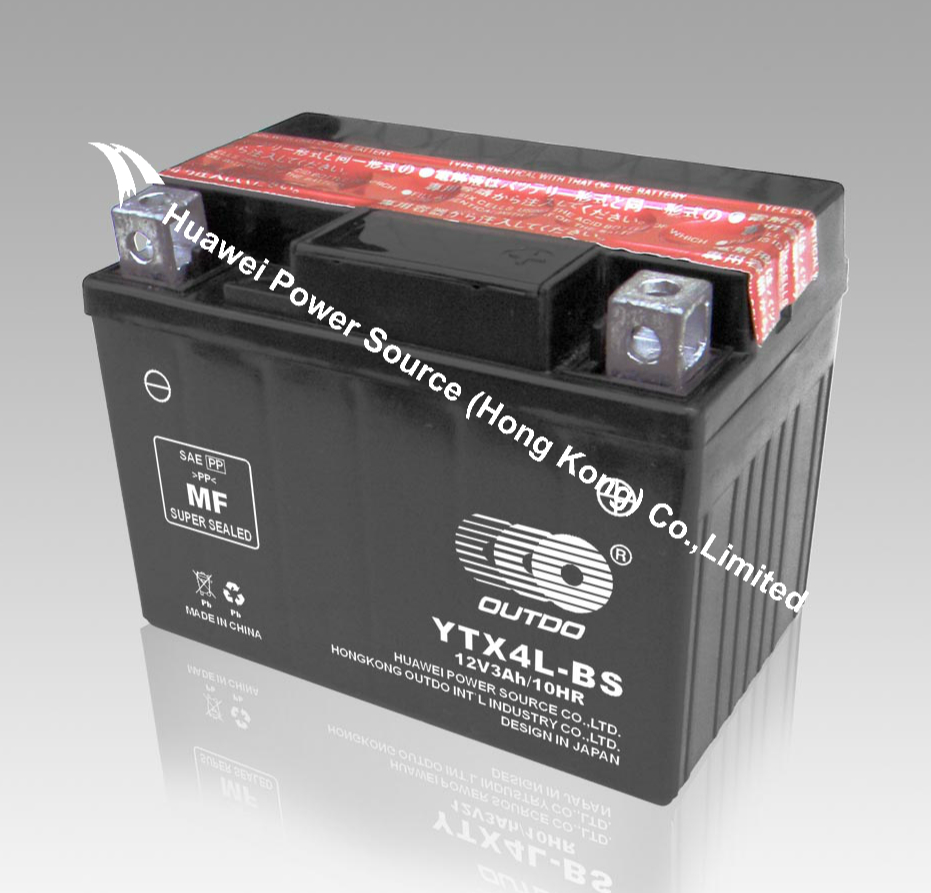 OUTDO Battery / OUTDO Bateria / Dry cell Motorcycle Battery / MF Motorcycle Battery YTX4L-BS