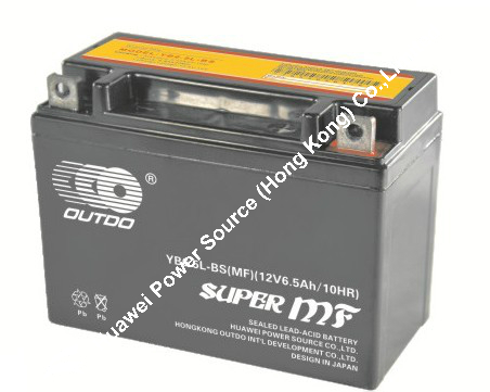 OUTDO Battery / 12V motorcycle battery / atv battery / scooter battery 12N6.5L-BS