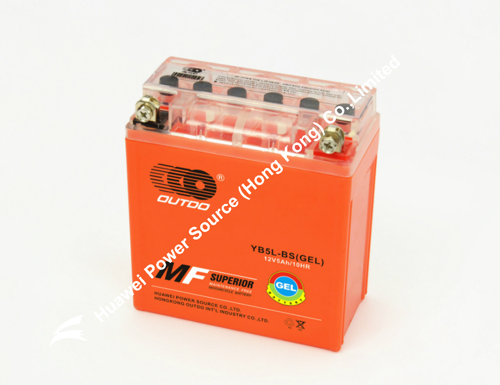 OUTDO Battery / Gel battery for motorcycle / orange GEL battery / atv battery / scooter battery