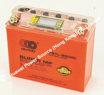 OUTDO Motorcycle DS-iGEL Battery / Orange DS-IGEL Battery / DS-iGEL battery YB7L-BS(DS)