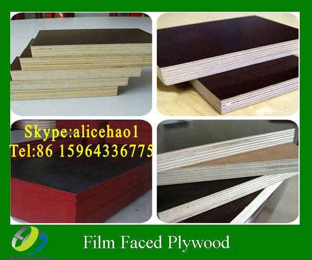 18mm poplar waterproof phenolic brown film faced plywood