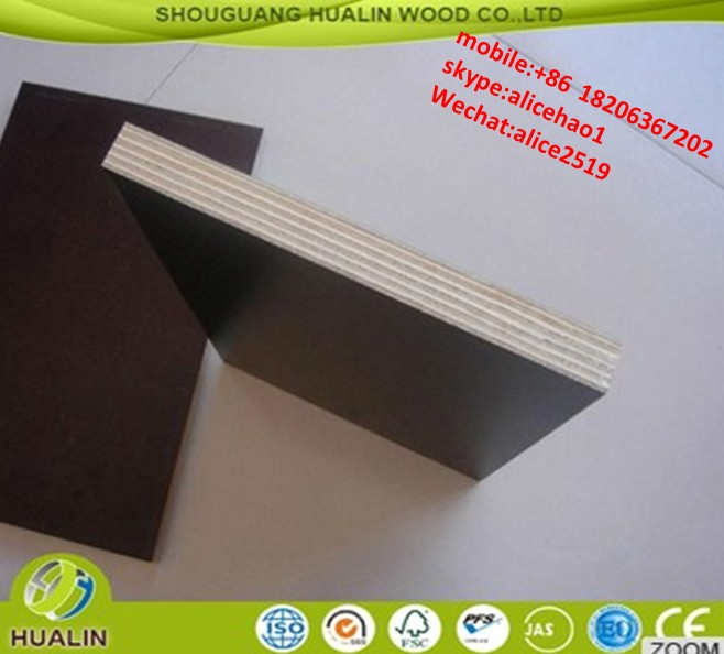 cheap film faced shuttering plywood / phenolic film faced plywood / 12mm and 18mm laminated plywood