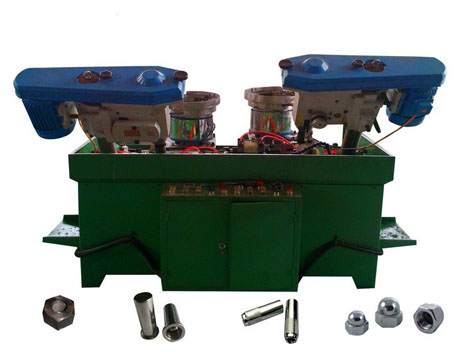 The automatic cap nut tapping machine from China factory