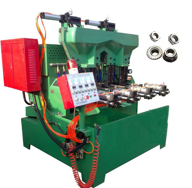 The pneumatic 4 spindle flange & hex nut tapping machine from China factory