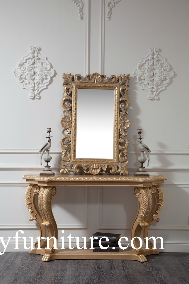 Wall table console table with mirror table decorations classic table italian style ao301 wood - Decoration italien classic ...