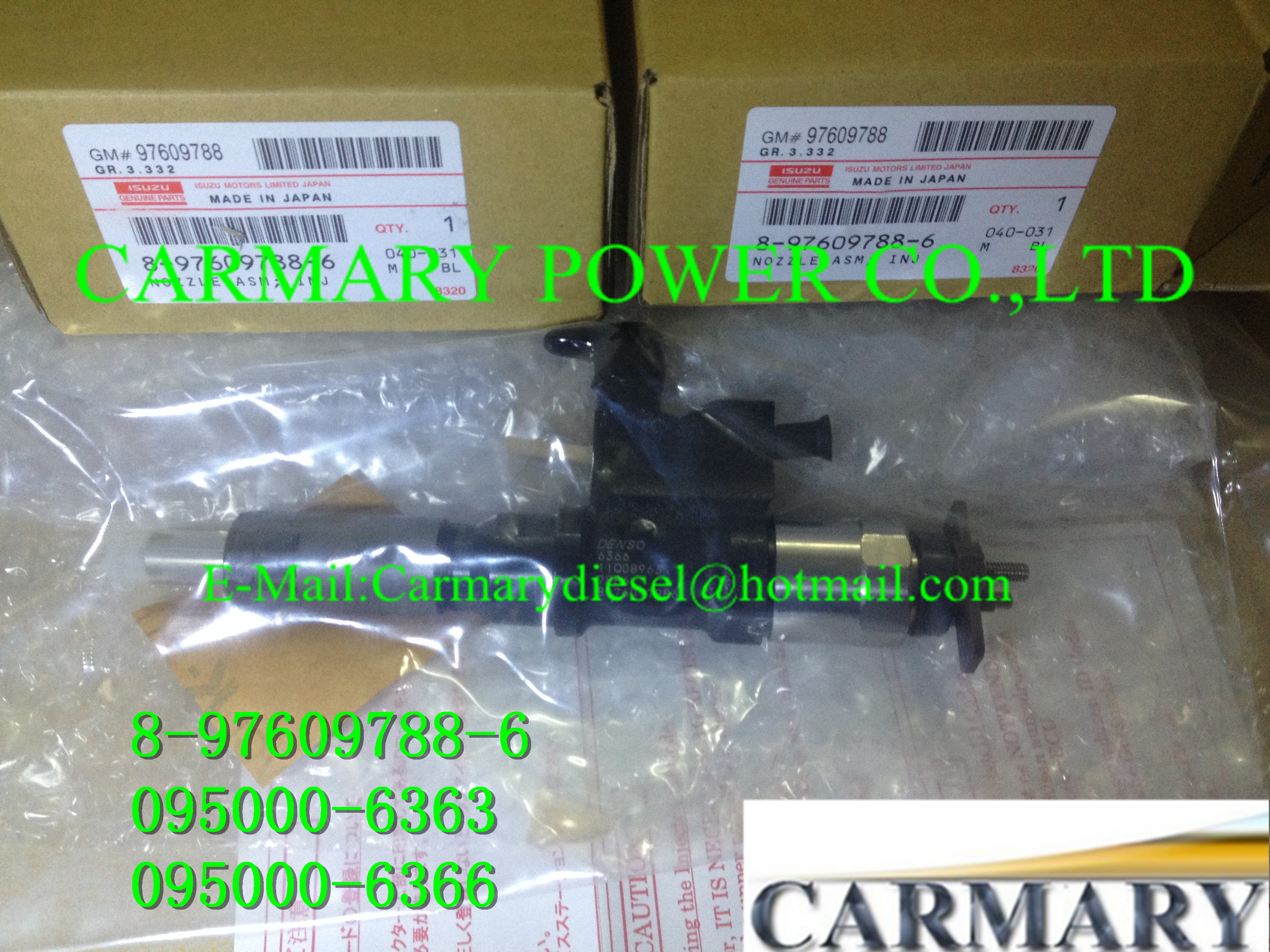List of Denso Common Rail Injectors WWW CARMARYDIESEL COM
