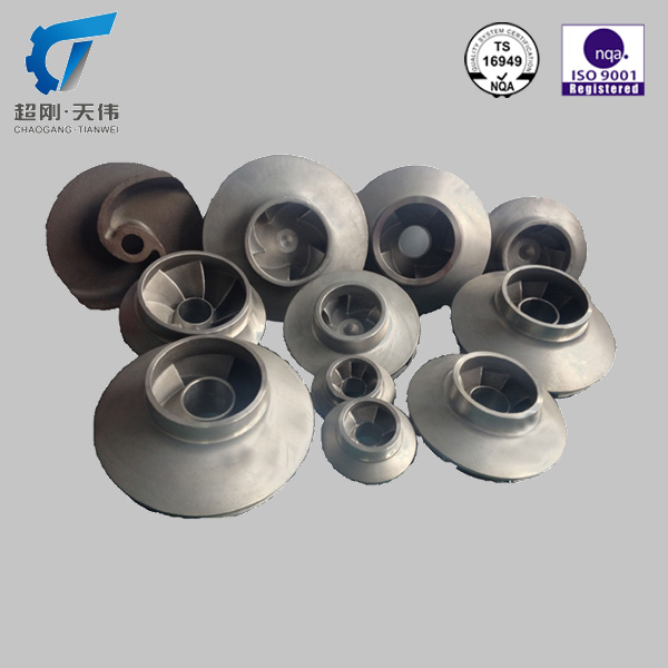 ISO 9001 stainless water pump impeller OEM pump parts