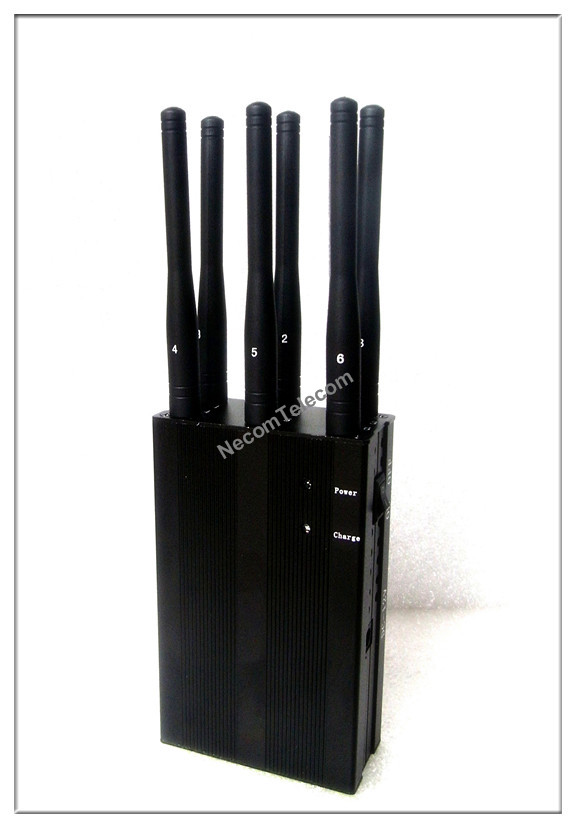 CPJ3050 Portable Six Antenna for all Cellular-GPS-Lojack-Alarm Jammer system