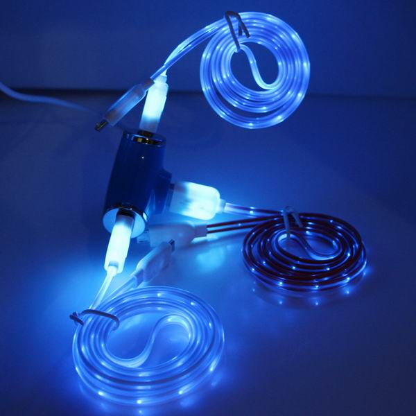 High speeed phone sync led usb cable