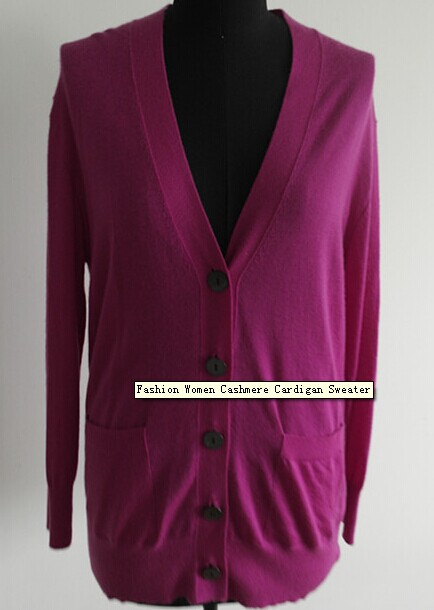 Fashion Women Cashmere Cardigan Sweater