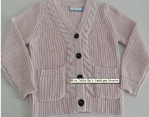 Nice Cable Knit Cardigan Sweater
