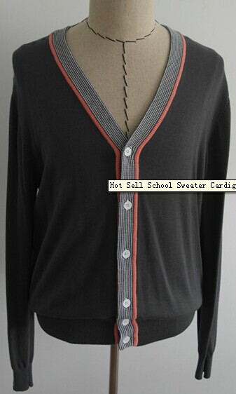 Hot Sell School Sweater Cardigan