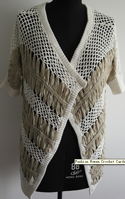 Fashion Women Crochet Cardigan Sweater