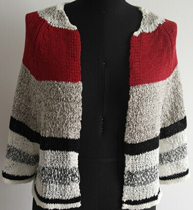 Fashion Stripe Lady Cardigan Sweater