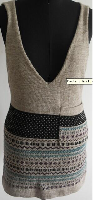 Fashion Girl V Neck Sweater
