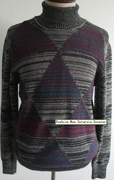 Fashion Men Intarsia Sweater