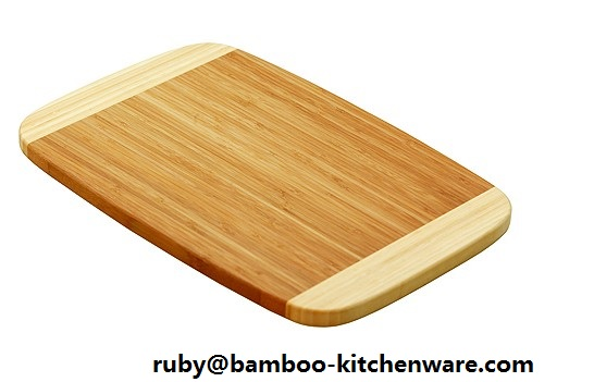 2 Tone Bamboo Wooden Cheese Cutting Board Set Perfect for Kitchen, Christmas Family Gift