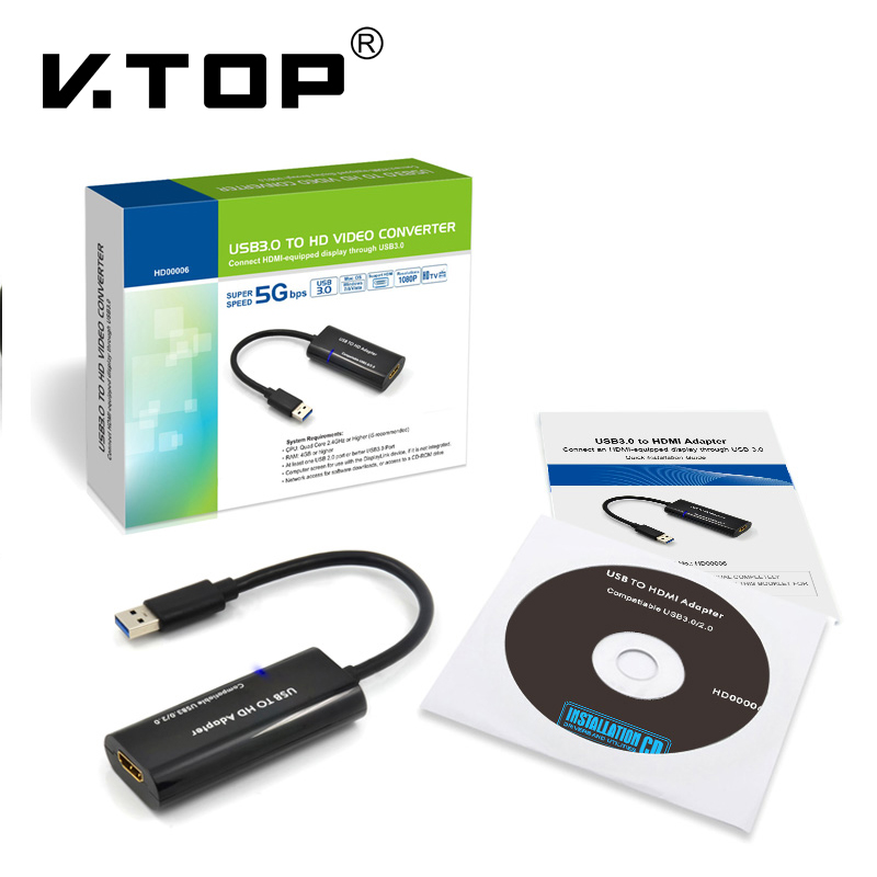 HD00006,Usb3.0 to HDMI Multi Displaying Adapter