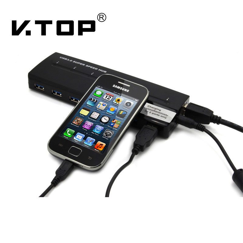 BUH3071,Desk-Top Usb 7 x DCP Charging Station with Usb3.0 Hub function