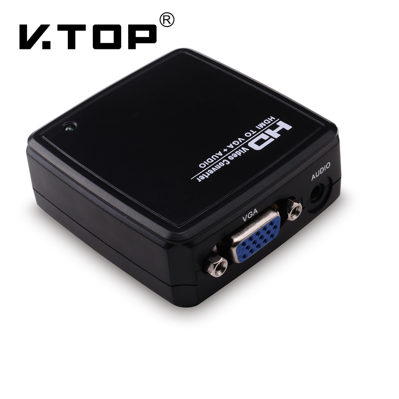 hd2v04 hdmi to vga video adapter converter with audio  computer