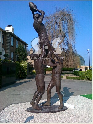 Bronze Rugby sculpture ,bronze sportsman sculpture