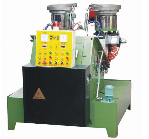 The multifunctional 2 spindle abnormity nut tapping machine
