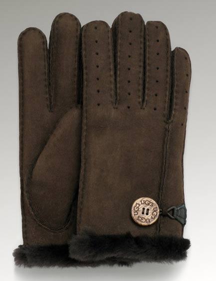 sheepskin double face gloves