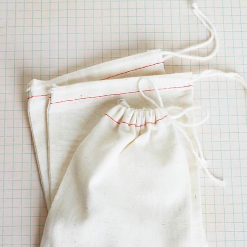 Unbleached Cotton Muslin Drawstring Bags