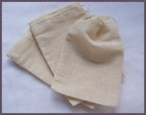 3 x 4 cotton drawstring muslin bags