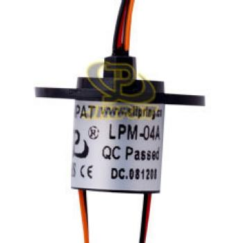 Lighting gold to gold contact capsule slip ring